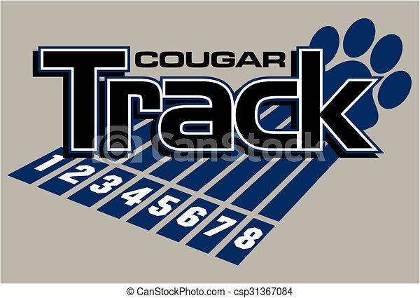 cougar track - csp31367084