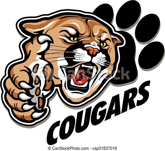 cougars mascot - csp31837019