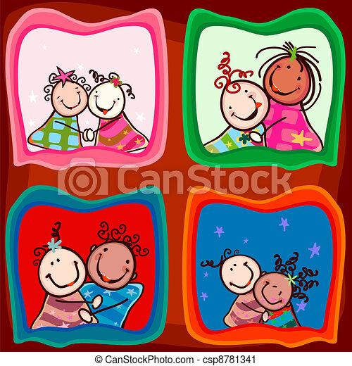 couples kids smiling - csp8781341