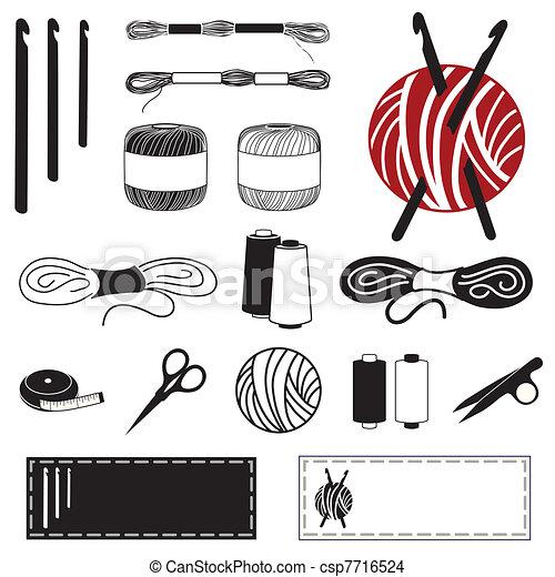 Crochet Icons - csp7716524