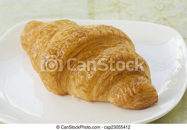 croissant bread - csp23055412