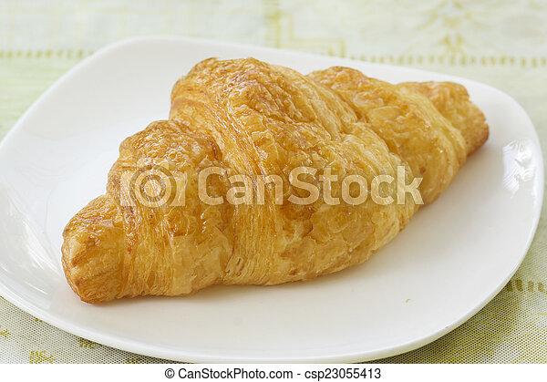 croissant bread - csp23055413