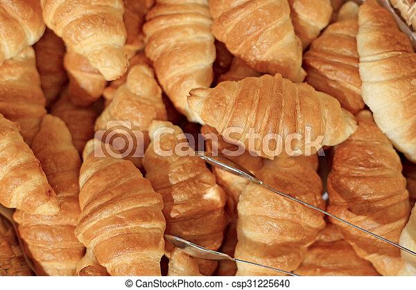 croissant bread - csp31225640