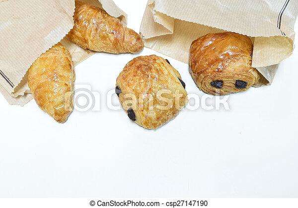 Croissant bread - csp27147190