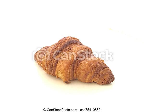 croissant in white background - csp75410853