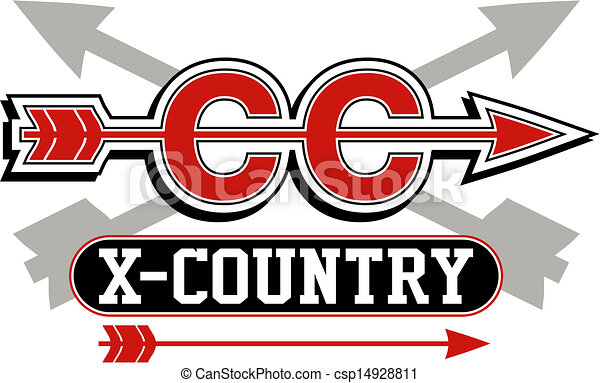 cross country logo with arrows - csp14928811