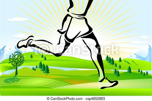 cross country running - csp4652883