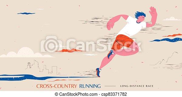 Cross-country running event - csp83371782