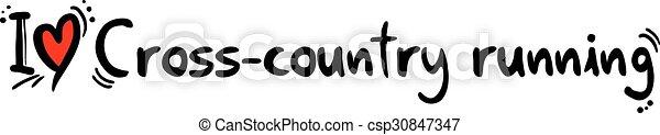 Cross-country running love - csp30847347