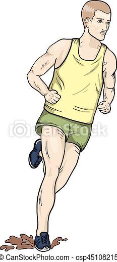 Cross country running - csp45108215