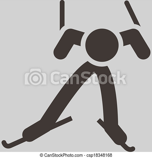 Cross-country skiing icon - csp18348168