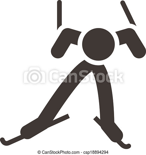 Cross-country skiing icon - csp18894294