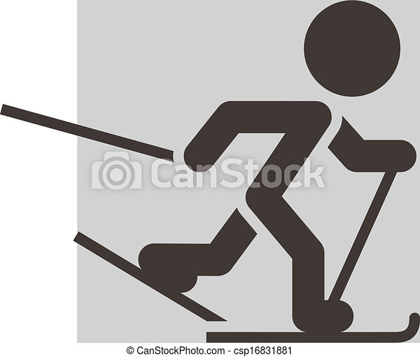 Cross-country skiing icon - csp16831881