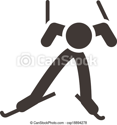 Cross-country skiing icon - csp18894278