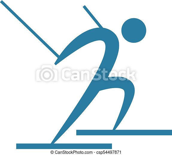 Cross-country skiing icon - csp54497871