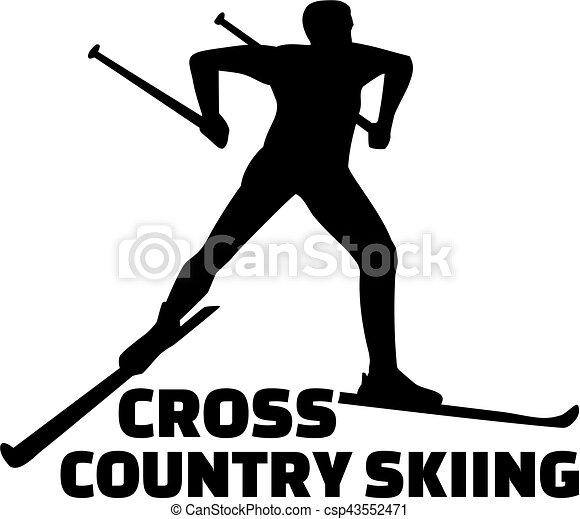Cross country skiing - csp43552471