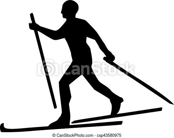 Cross country skiing - csp43580975
