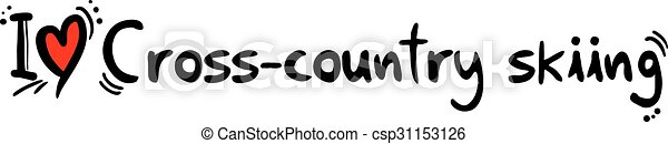 Cross-country skiing love - csp31153126