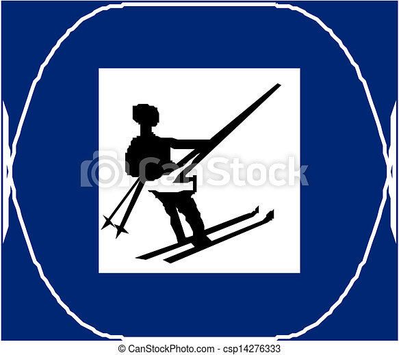 Cross country skiing sign - csp14276333