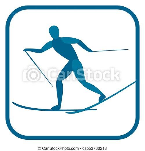 Cross country skiing. - csp53788213