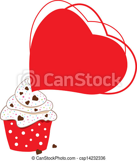 Cupcakes design on white background - csp14232336