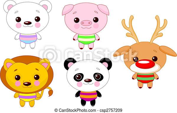 Cute animal set 01 - csp2757209