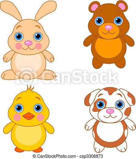 Cute animals set 01 - csp3306873