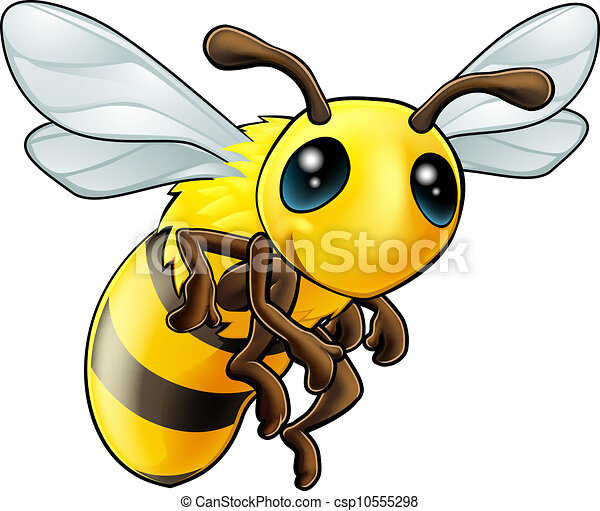Cute Bee Character - csp10555298
