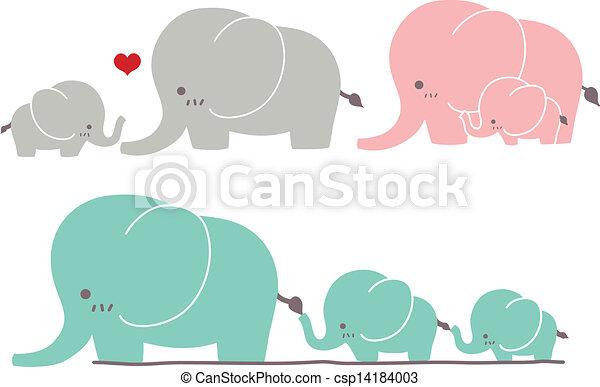 Cute Elephant - csp14184003