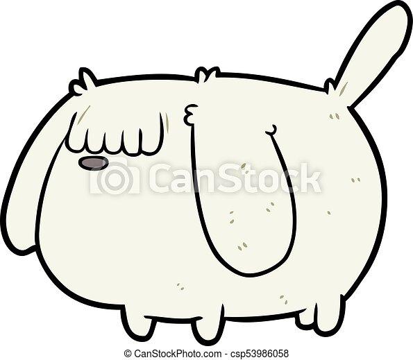 cute funny cartoon dog - csp53986058