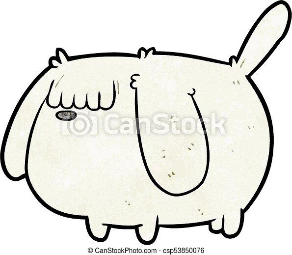 cute funny cartoon dog - csp53850076