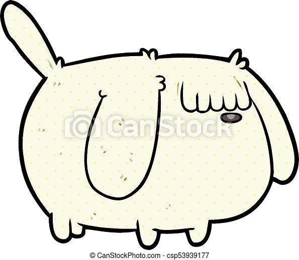 cute funny cartoon dog - csp53939177
