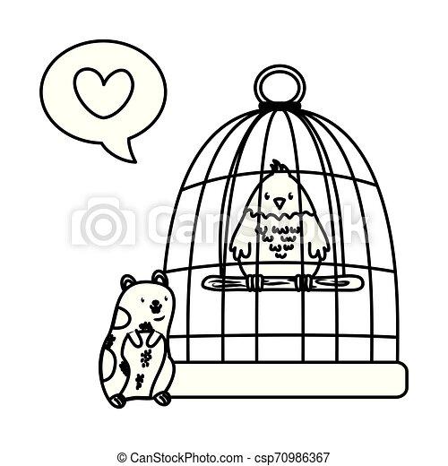 cute funny pets cartoon - csp70986367
