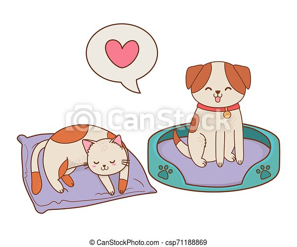 cute funny pets cartoon - csp71188869