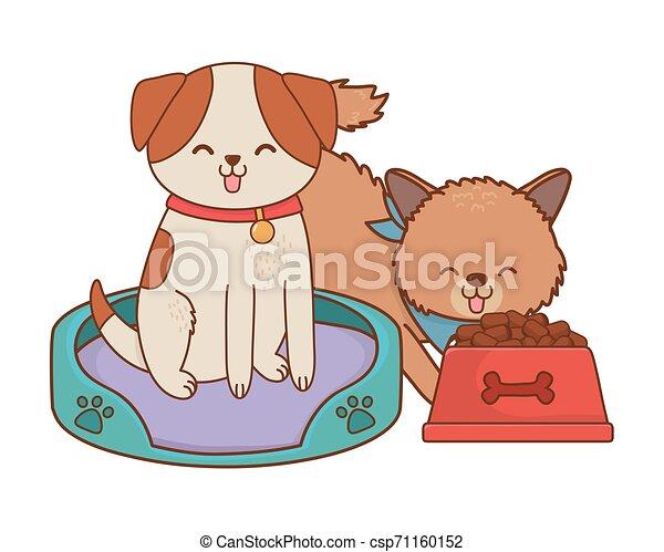 cute funny pets cartoon - csp71160152