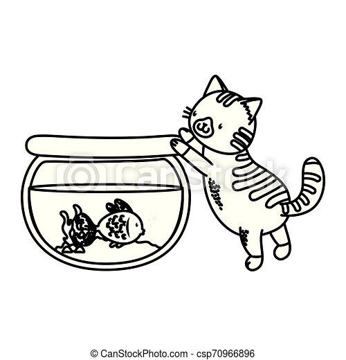 cute funny pets cartoon - csp70966896