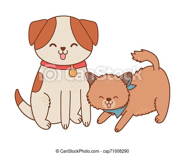 cute funny pets cartoon - csp71008290