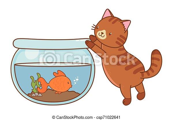 cute funny pets cartoon - csp71022641