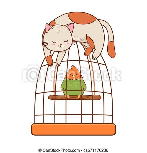 cute funny pets cartoon - csp71176236