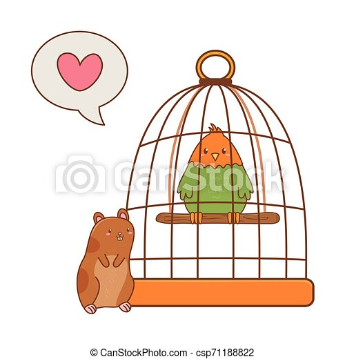 cute funny pets cartoon - csp71188822