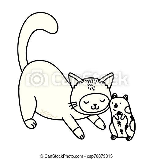 cute funny pets cartoon - csp70873315