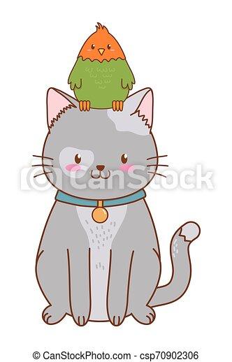cute funny pets cartoon - csp70902306