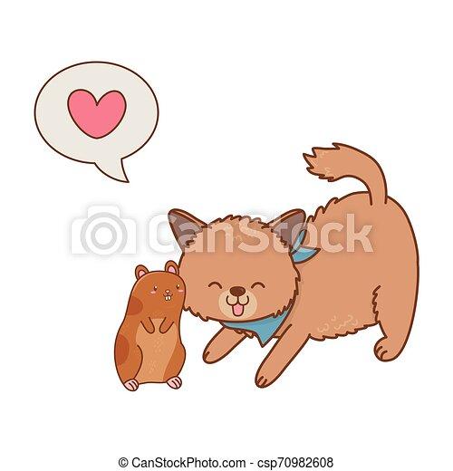 cute funny pets cartoon - csp70982608