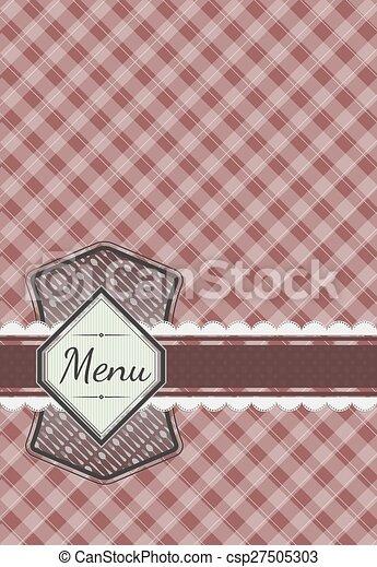 Cute menu card design - csp27505303