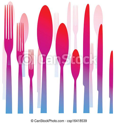 Cutlery fork spoon knife - csp16418539