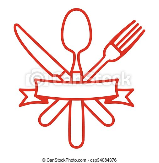 Cutlery - knife, fork and spoon - csp34084376