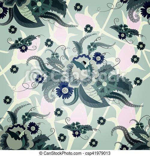dark floral - csp41979013