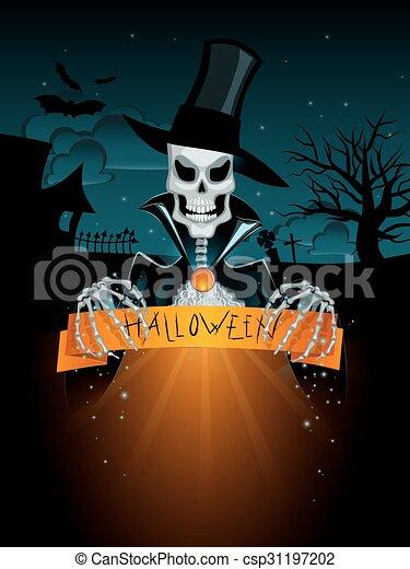 Dark halloween background - csp31197202