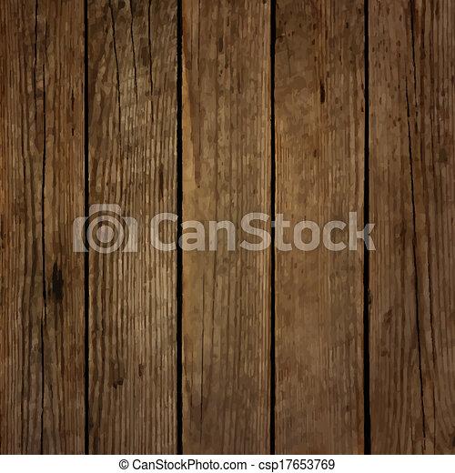 Dark wood board vector background - csp17653769
