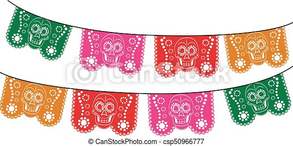 Day Of The Death Cut Out Paper - csp50966777